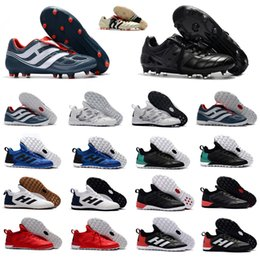 Wholesale Tango Media - 2018 Predator Mania Champagne Mens TF IC FG Soccer Shoes ACE Tango 17+ Purecontrol Soccer Boots Indoor Soccer Cleats Football Shoes
