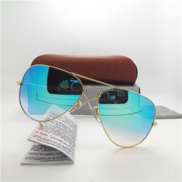 ok, óculos Desconto Top quality lente de vidro homens e mulheres da moda óculos de sol gradiente uv400 marca designer do vintage esporte óculos de sol com caixa marrom