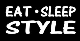 Wholesale Recreation Pink - Wholesale Eat Sleep Style Lettering Art Sticker For Car Truck Door Decal Hair Stylist Salon Scissors Fashion Recreation lazy happy life