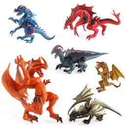 Wholesale Toys Dinosaurs Dragon - 1pcs tiny toys mini Dinosaurs DOTA FIGURE Dragon plastics Story props doll 10-12CM