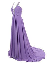 Wholesale Vestidos Largos Fashion - Evening Party Dresses 2017 Long Vestidos Largos Para Bodas Cheap Long Chiffon Prom Dresses with Open Back