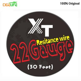 Wholesale E Cigarette Resistance Wire - XT Feet Length DIY Resistance Heating Wire Core For Rebuildable E Cigarette Atomizers DHL Free Electrothermal alloy