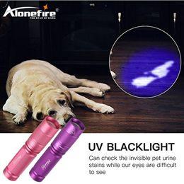 Wholesale Travel Uv Lamp - AloneFire SV001 High quality CREE LED UV Flashlight SK68 Purple Violet Light UV torch 365nm Lamp
