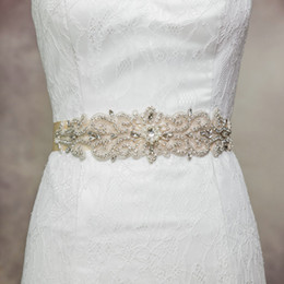 Wholesale Designer Quality Wedding Dress - Cheap Women Fashion Designer Belt 4cm Thin Satin Sashes Wedding Supplies for Bride Wedding Dress Belts Handmade R26 Top Quality