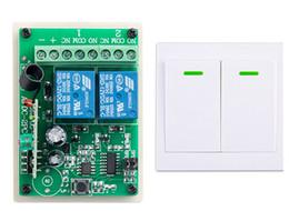 Transmisor de 315 mhz receptor online-Al por mayor- Nuevo interruptor de control remoto digital DC12V 2CH Receptor Transmisor de pared Interruptor de alimentación inalámbrica 315MHZ Interruptor de radio controlado Retransmisión