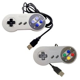 Wholesale Games For Super Nintendo - Classic USB Controller PC Controllers Game pad Joystick Replacement for Super Nintendo SF for Tablet PC MAC