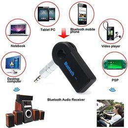 supporto bluetooth a2dp Sconti 2017 Handfree Car Bluetooth Music Receiver Universal 3.5mm Streaming A2DP Wireless Auto AUX Audio Adapter con microfono per il telefono MP3