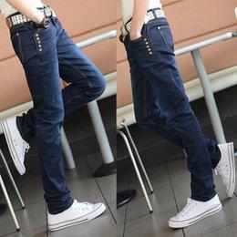 Wholesale Trouser Material For Men - Wholesale-2016 New Arrival Men's Spring Long Jeans Hot Sale FAST Shipping High Quality Material Trousers For Men Denim Jeans