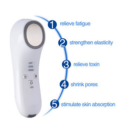 Wholesale galvanic face massager - Hot Cold Hammer Multifunction Ultrasound Photon Galvanic Vibration Anti Wrinkle Portable Facial Massager Skin Rejuvenation for home use