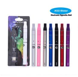 Wholesale Ago Blister Kit - Evod Ago Blister Vaporizer Dry Herb Electronic Cigarette Starter Kit Ago G5 Wax Atomizer Tank Mini G5 Herbal Evod Vape Pen