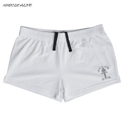 Wholesale Workout Clothes For Men - Wholesale- Shorts Men Cotton Workout for Male Gyms clothing Mens Shorts Bodybuilding Fitness Muscle Gyms Shorts Plain Elastic Waist