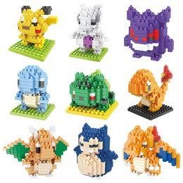 Atacado-New Cartoon Blocos de Construção Pikachu Blocos de Plástico Assemblies Crianças Brinquedos de Natal Blocos de Construção de Blocos de Brinquedo A0534 de Fornecedores de teste de pc