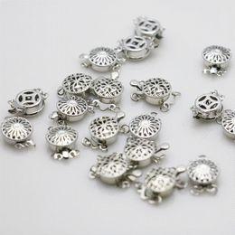 10 UNIDS 12mm Hot Snap Button reticulación al por mayor Accesorio de Hardware de Metal Plateado para Collar Pulsera Mecanizado de piezas desde fabricantes