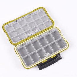 Wholesale fly fishing box case - Large Waterproof Storage Case Fly Fishing Box Fish Lure Spoon Hook Bait Fishing Tackle Box Army Green