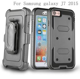 Wholesale Grand Cases - For Samsung galaxy J7 2015 J700 J710 J3 Grand prime G530 Note 5 Hybrid Armor phone Case Holster Combo Shockproof cover Belt clip