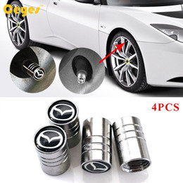 Wholesale Auto Car Wheel Tire Valves Tyre Stem Air Caps Cover Car Emblems for Mazda cx Car Accessories Styling