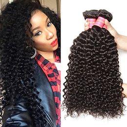 Wholesale Eurasian Virgin Hair Body Wave - Eurasian Virgin Hair black virgin hot unprocessed deep wave curly Human Hair Weave bohemian curl weave 4,6bundles lot