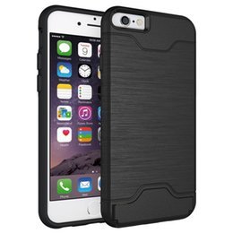 Wholesale Mobile Phone Pockets - For iPhone X 8 6 6S 7 Case Silicon Quality Plastic Back Cover Hybrid Armor Anti Knock Mobile Phone Cases for iPhone 7 Plus Bags Holder