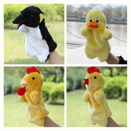 Wholesale Duck Puppets - Wholesale- Funny Hand Puppet Plush Puppets Cartoon Duck Cock Hen Penguin Doll Baby Toys Brinquedo Marionetes Fantoche