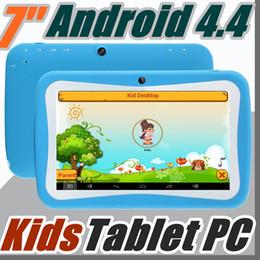 App tablet pc online-2018 7 pulgadas Quad Core niños Kids Tablet PC 8 GB RK3126 Android 4.4 MID Dual Cam juegos educativos App regalo de cumpleaños G-7PB