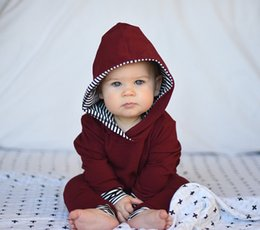 Wholesale Toddler Girls Winter Tops - 2017 Autumn Winter Toddler Kids Baby Boys Girl Striped Hoodie Sweater Tops +Pants Outfits Clothes Sets