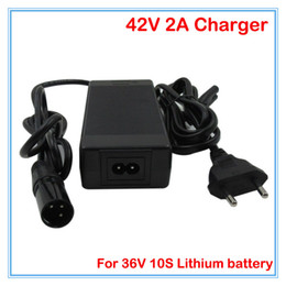 Wholesale 36v Li Ion Battery Charger - 36V 2A Li-ion battery charger Output 42V 2A XLRM port Input 100-240VAC Used for 36V 10S lithium charger