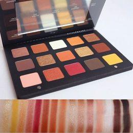 Wholesale Eye Shadow Powder Pigment - New Sunset Palette 15 Colors Matte Pigment Glitter Eyeshadow Palette Cosmetic Makeup Set Nude Shimmer Eye Shadow Powder Palette
