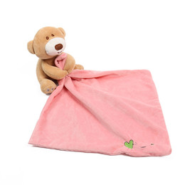 Wholesale baby doll blankets - Baby Easy Sleep Security Blanket Infant Doll Toy Good for Chews Sucks Birth Gift Teether Toy