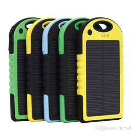 Wholesale laptop power banks - Dual USB 5000mAh Waterproof Solar Power Bank Portable Charger Outdoor Travel Enternal Battery Powerbank for iPhone Android Laptop Camera