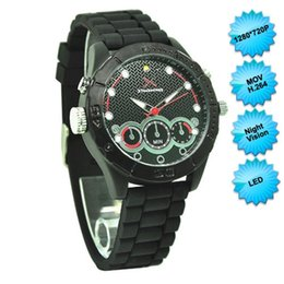 Wholesale Led Watch 8gb - invisible spy watch camera 720P H264 LED HD Night Vision Watchproof Spy Watch Hidden Camera 8GB