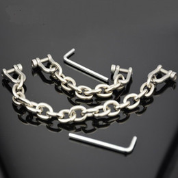 Wholesale Metal Bondage Shackles - Bondage restraints metal cuff chain shackles bdsm fetish slave sex products toys for adults Alloy toe cuff adult games
