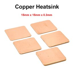 Wholesale Bga Amd - Wholesale- 10pcs lot 15x15x0.3mm DIY Copper Shim Heatsink thermal Pad Cooling for Laptop BGA CPU VGA Chip RAM IC Cooler Heat sink