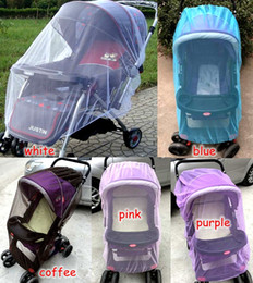 Wholesale Wholesale Netting - summer children baby stroller pushchair coloful mosquito net netting accessories curtain carriage cart cover insect care DIM:150cm 5colors