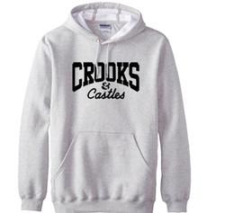 Wholesale Loose Clothes Fashion - clothing Crooks And Castles fashion men sweatshirts new autumn winter warm hoodies men fleece loose men pullover hoodie
