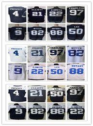 Wholesale Cowboys Elite - Men's Dallas Stitched Cowboys jersey 4 Dak Prescott 21 Ezekiel Elliott 22 Smith 50 Sean Lee 82 Jason Witten 88 Dez Bryant Elite jerseys