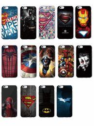 Wholesale Iron Man Casing - Superm Batman Iron Man Deadpool Spider Man Joker Avenger Soft Phone Case for iPhone 7 7Plus 6 6S 6Plus 5 5S SAMSUNG