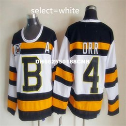 Wholesale Dry Ice Delivery - Men's #4 Bobby Orr Best quality 100% embroidery Throwback Hockey Jerseys Quick delivery free shipping