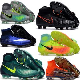 Wholesale Ii Vi - Charlin's 2017 Top Quality Outdoor Mercurial Superfly VI CR7 FG Soccer Cleats Magista Obra Football Boots Hypervenom II Phantom Soccer Shoes