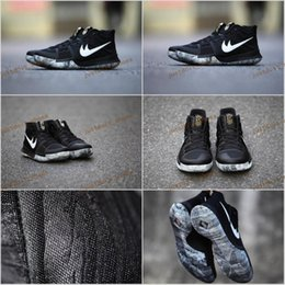 Wholesale Leather Tassels For Sale - Free Shipping 2017 Kyrie 3 BHM Black History Month Mens Basketball Shoes kyrie bhm sneakers for sale size 7-12
