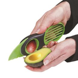 Wholesale Cook Accessories - Portble 3-in-1 Safety Avocado Slicer Corer Plastic Fruit Pitter Cooking Tools Durable Blade Kitchen Accessories Free Shipping