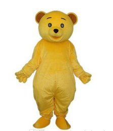 Wholesale Teddy Bear Carnival - Hot sale Cheap Golden Yellow Teddy Bear Mascot Costume Adult Size Cartoon Character Mascotte Carnival Cosply Costume