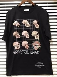 Wholesale Tee Shirt Heavy Metal - 2017 Fear Of God Grateful Dead Fourth Collection Resurrected Vintage Heavy Metal Rock Summer Short Sleeve Cotton T-shirt Tee