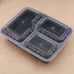 Contenitori per la preparazione dei pasti Contenitori monouso per la conservazione degli alimenti a microonde Contenitori monouso con coperchi Vassoio per la scatola di pranzo con coperchio WN005 da usa e getta bento all'ingrosso fornitori