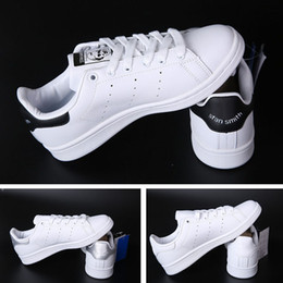Wholesale Elastic Shoes - Top quality women men new stan shoes fashion smith sneakers casual leather mens shoes sport running shoes fast shipping size 35-44