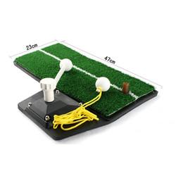 2019 pratica del tappeto All'ingrosso- Allenatori Golf Practice dispositivo durevole Indoor Golf Swing mat Golf swing trainer mat sconti pratica del tappeto