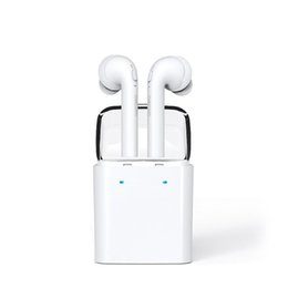 Wholesale Case Charges Iphone - Dacom 7S Twins Earphone Earbuds For Apple True Wireless Sports Earbud Headset with Portable Charging Case+Mic+Noise Cancellation for iPhone