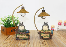 Wholesale Animal Night Lights Kids - kawaii cartoon My Neighbor Totoro lamp led night light ABS Reading Table Desk Lamps for kids Gift Home Decor novelty lightings