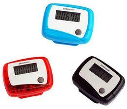 Wholesale Wholesale Single Function Pedometers - Free shipping 300PCS Pocket LCD Pedometer Mini Single Function Pedometer Step Counter Health Use Counter Jogging Running