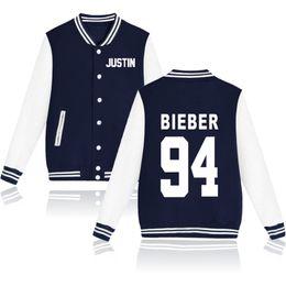 justin bieber куртка бейсбол Скидка Wholesale-Purpose Tour Baseball Jacket High Fashion Justin Bieber Purpose Tour Streetwear Hip Hop Autumn clothing XXL