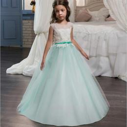 Wholesale Corset Big Wedding Dress - Nw Brand Big Girls Competition Dress Princess Cap Sleeve Child Dress With Appliques Corset Back Vestido de nina de las flores